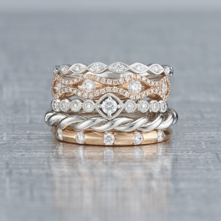 We just can't get over the beauty of these stackable rings. #ShaneCoSparkle