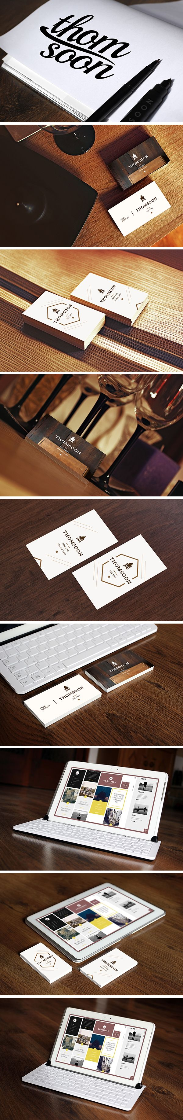 Showcase your design projects with this beautiful collection of business cards and tablet mock-ups released by Tomasz Mazurczak. PSD files are fully layered