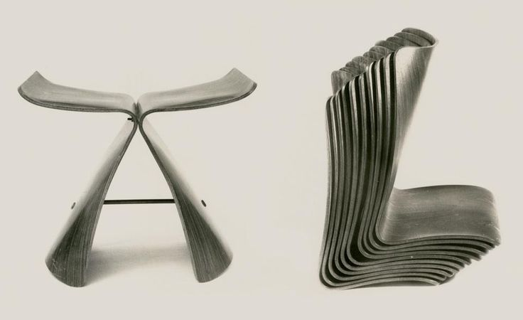 More Sori Yanagi (who died in January). Follow the link to read what Jasper Morrison had to say about him. Two giants of furniture design.
