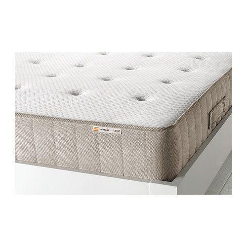 IKEA - HESSENG, Taschenfederkernmatratze, fest/naturfarben, 160x200 cm, , Naturmaterialien wie Latex, Rosshaar, Baumwolle, Wolle und Lyocell bieten zusätzlichen Komfort und sorgen für ein angenehmes Schlafklima bei gleich bleibender Temperatur.Die einzeln verpackten Taschenfedern reagieren punktgenau und gewährleisten so eine optimale Druckverteilung und ergonomische Anpassung an die Körperform.5 Komfortzonen stützen den Körper punktgenau und mindern den Auflagedruck an Schultern und…