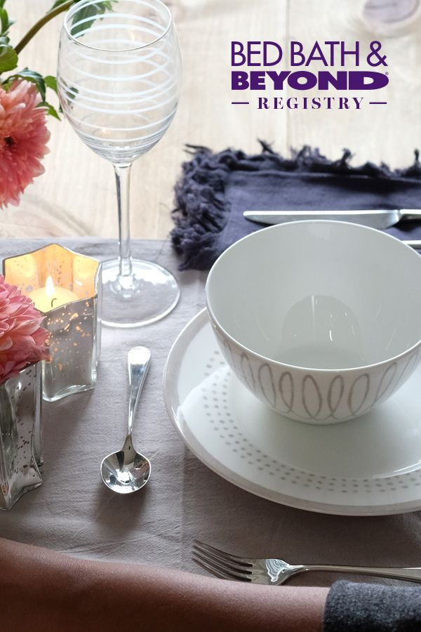 Create a registry for dinnerware that makes you feel like you're dining out.
