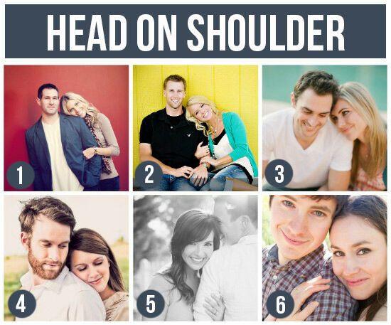 Pose Ideas for Couples: Head On Shoulder