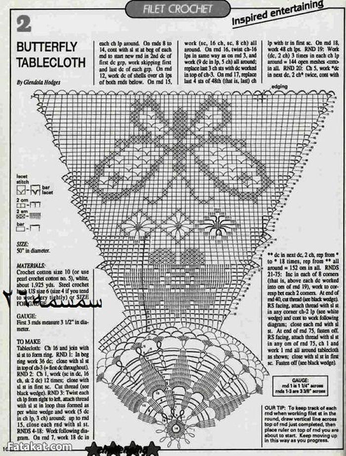 33-Скатерть--БАБОЧКИ-филейная-техника-схема.gif (700×923)