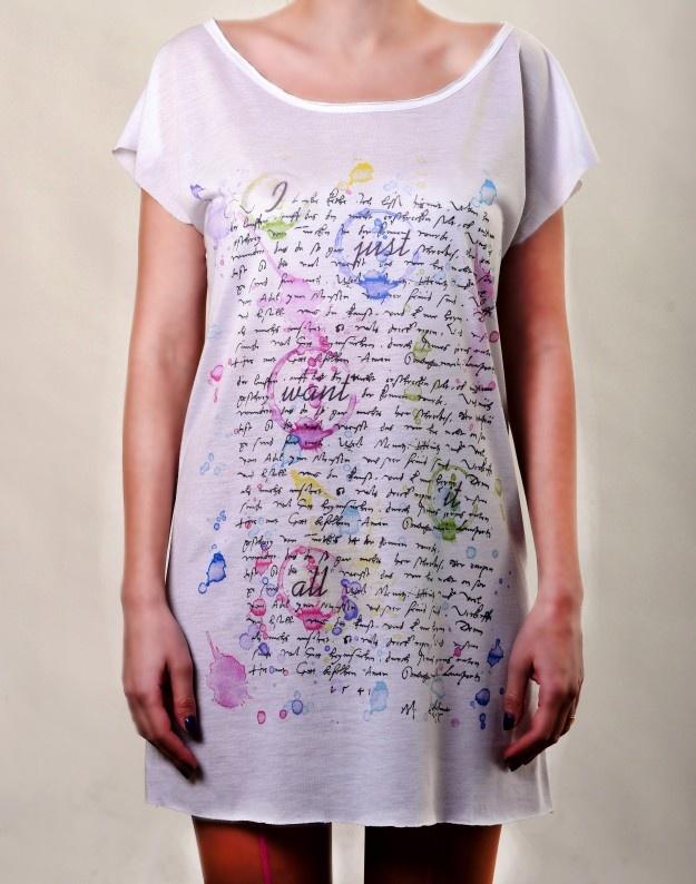 Splash Letter T-Dress  http://www.hotncool.ro/femei/splash-letter-tdress.html