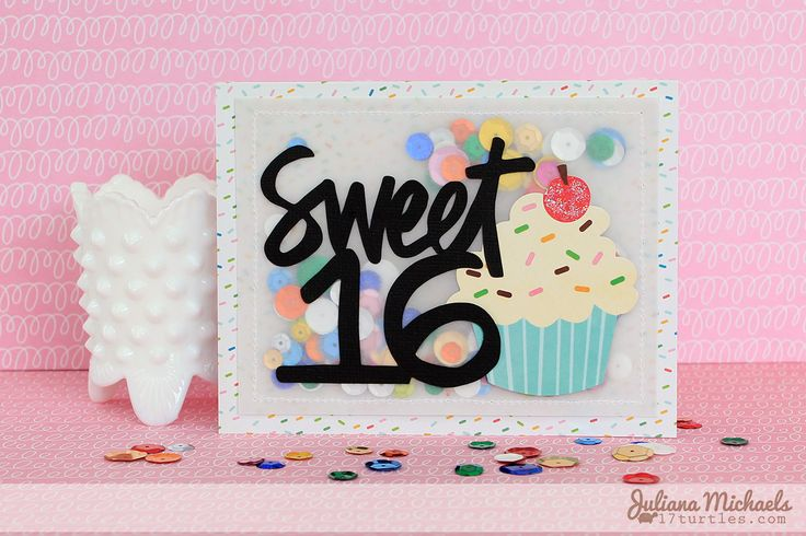 70 best random images on pinterest thoughts words and dutch quotes very different a shaker card made with vellum and sewn shut sweet 16 happy birthday card by juliana michaels m4hsunfo