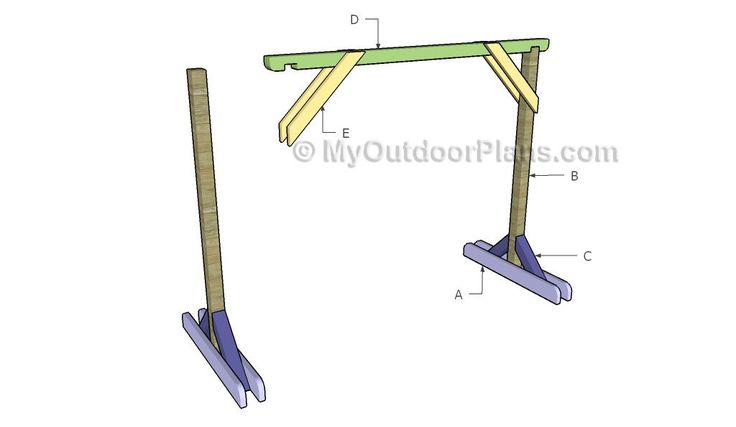 Building a porch swing stand