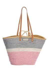 Twenty Violets capazo,cesto,bolso de playa tricolor,en rosa y verde agua…