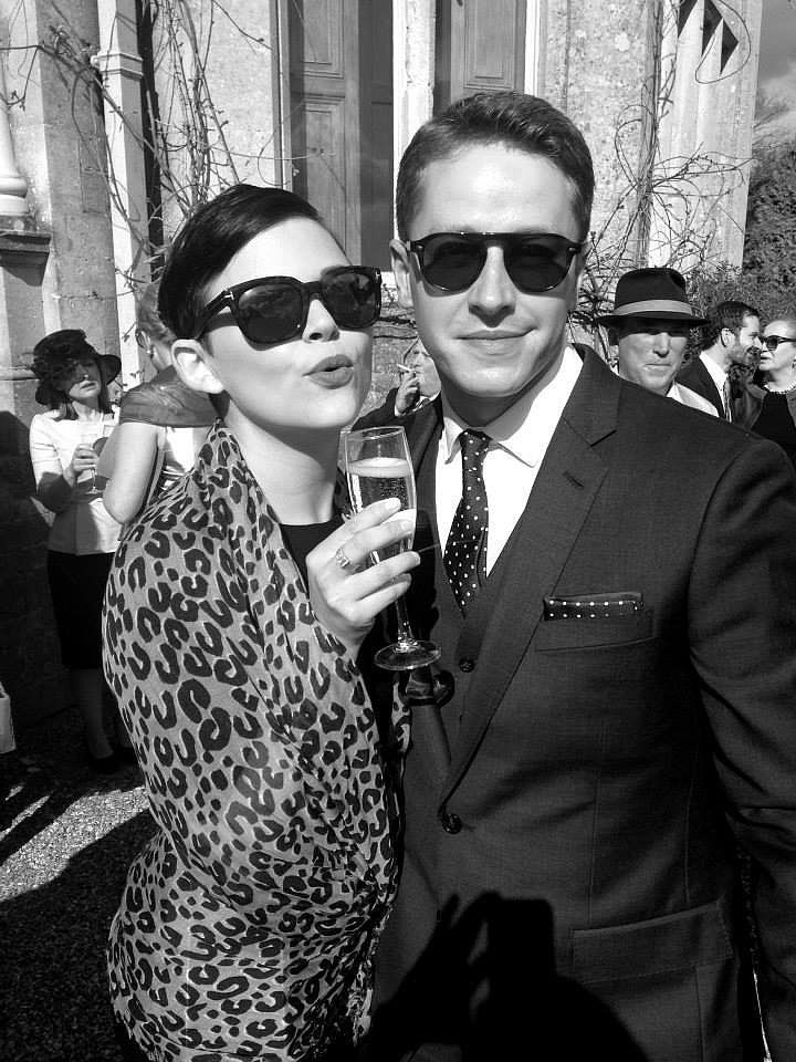 Ginnifer Goodwin and Josh Dallas. Newly weds and new parents. Josh said in an interview that he fell for Ginny instantly, that hes never loved anyone the way he loves her.