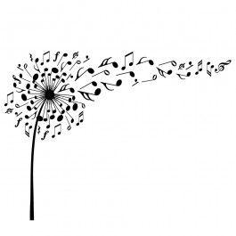 music-dandelion_bw