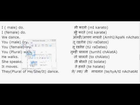 Learn Marathi. Learn Marathi from English. Learn Simple Present ...