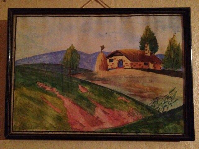 Pintura en acuarela..1972...Blanka.