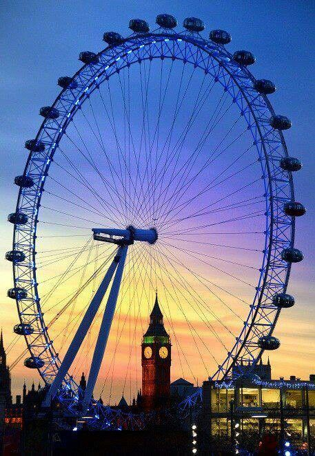 Can't wait for this!! London eye. Located on the Tamesis, is the world's largest Ferris wheel. The tour lasts approximately 30 minutes.