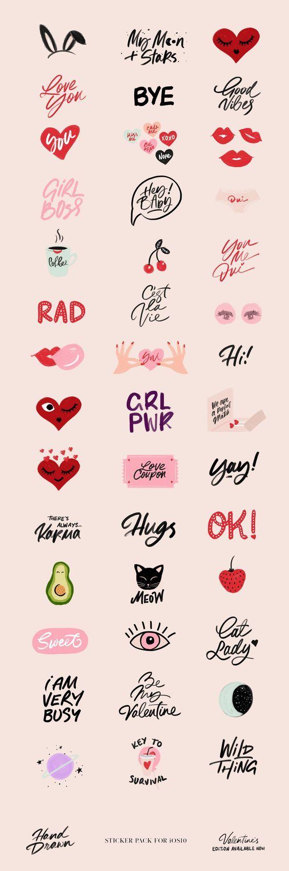 Valentinstag Facelift für unseren Hand Drawn Sticker Pack