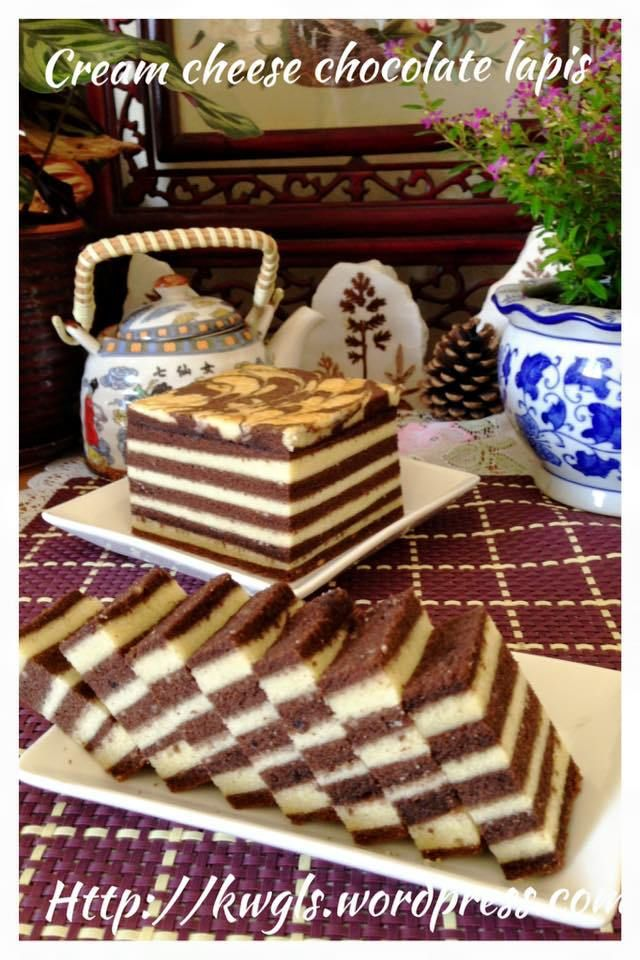 Cream Cheese Chocolate Lapis Cake (巧克力奶酪千层蛋糕)