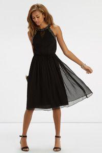 Gothic Embellished Midi Dress