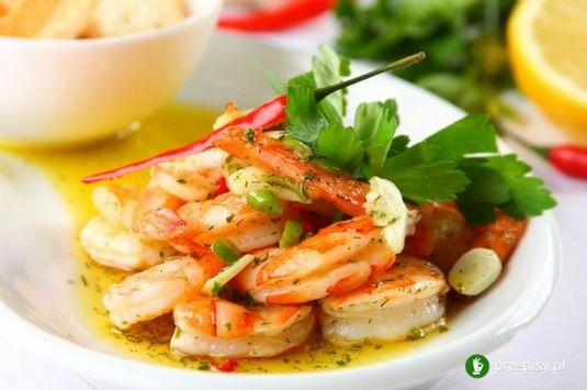 Krewetki z pietruszką #shrimp #tasty #mediterranean
