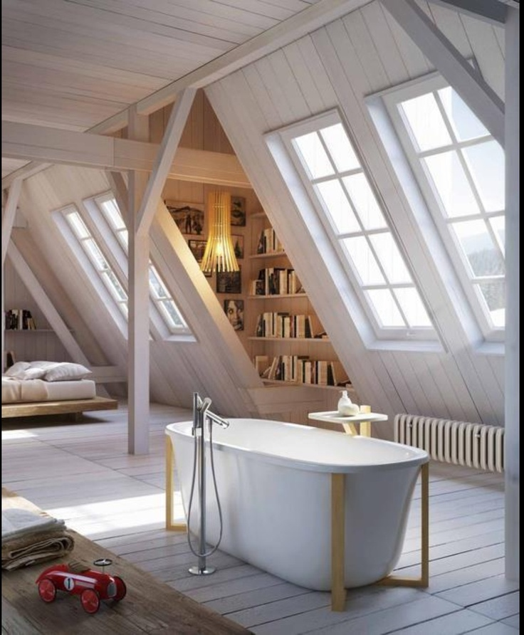 Bedroom and Bathroom combine seamlessly in this Spacious Attic Conversion