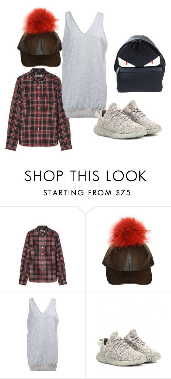 """""""MAVEN RIBBED DRESS"""" by iamamaven on Polyvore featuring adidas Originals and Fendi"""