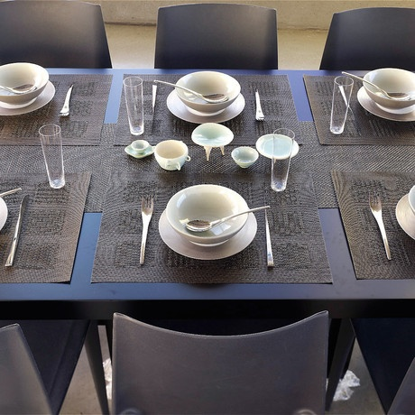 chilewich woven table runners and placemats