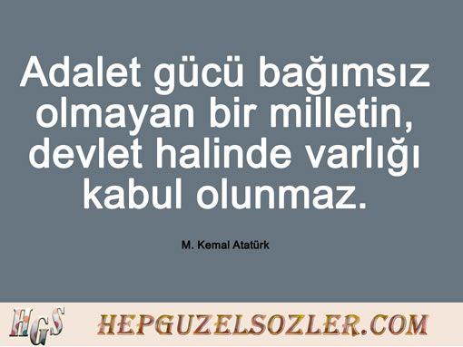 Atatürk'ün Adalet Hakkında Sözleri - 6 Resimli Söz