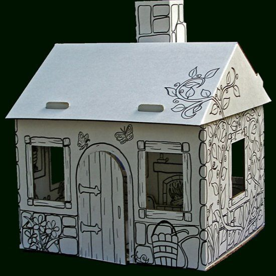 cardboard cat house | Cardboard playhouse - Shop sales, stores & prices at TheFind.com