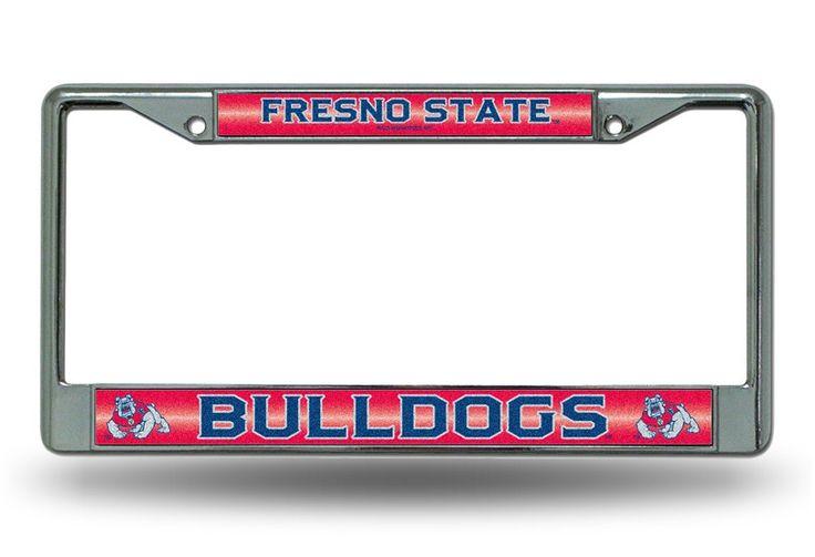 Fresno State Bulldogs Bling Chrome License Plate Frame