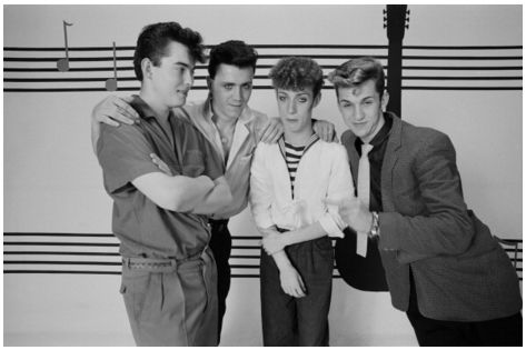 ♫'''Rockabilly group The Polecats posed in London in September 1981. L-R: Martin 'Boz' Boorer, Neil Rooney, Tim Worman, Phil Bloomberg. September 01, 1981| Crédits : Fin Costello...☺...'''♫ http://www.gettyimages.fr/detail/photo-d'actualit%C3%A9/rockabilly-group-the-polecats-posed-in-london-in-photo-dactualit%C3%A9/109327967