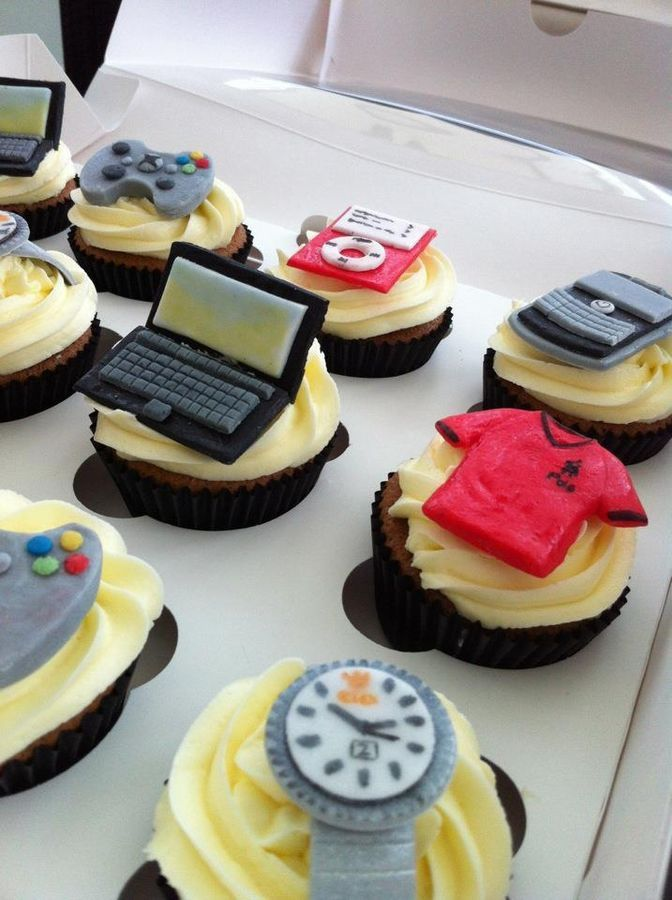 Cupcakes for the boy has everything