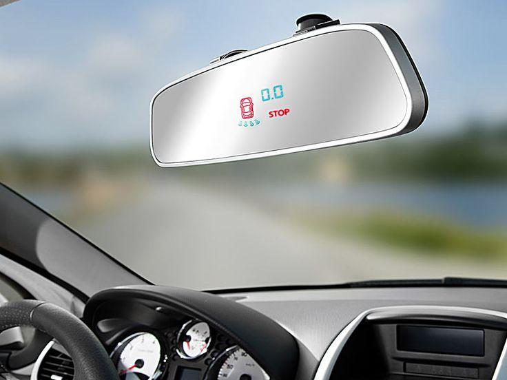 Einparkhilfe PA 480, 8 Sensoren (4 Front, 4 Heck), Rückspiegel Display