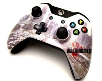 The walking dead custom xbox one controller scotty for Deco xbox one