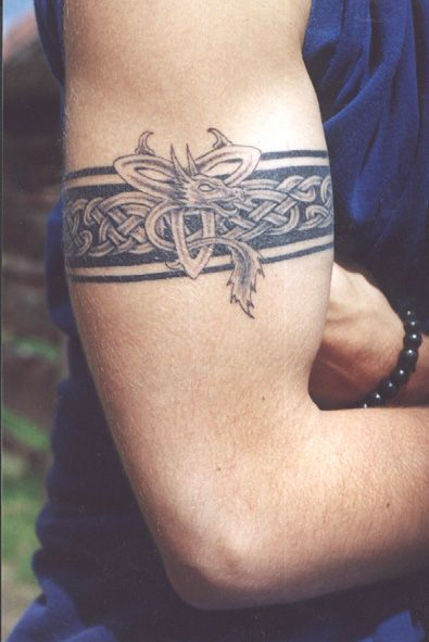 Gaelic Tribal Arm Band #celtic #tattoos