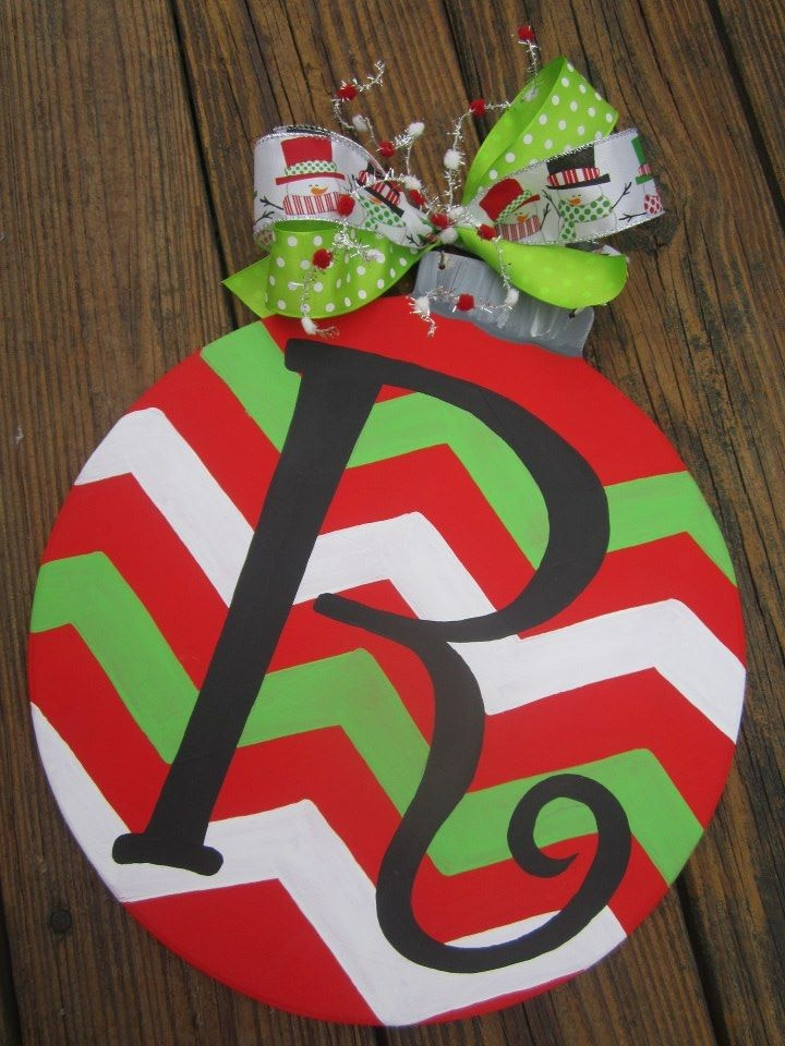 hand painted wooden door hanger - Wooden Christmas Ornaments To Paint