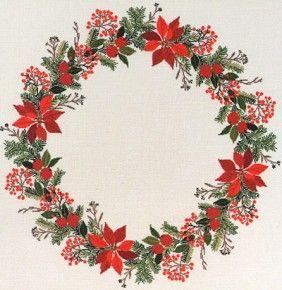 Eva Rosenstand kerstkrans, Poinsettia