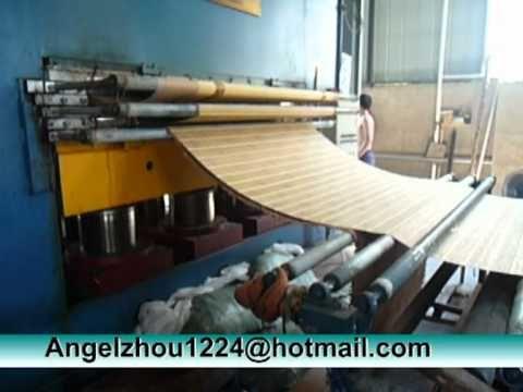 Bamboo Mat Machine, Press Cloth to Bamboo Mat, Bamboo Mat Making Machine Angelzhou1224@hotmail.com Mob: 0086 139 5710 6971 (Angel Zhou)