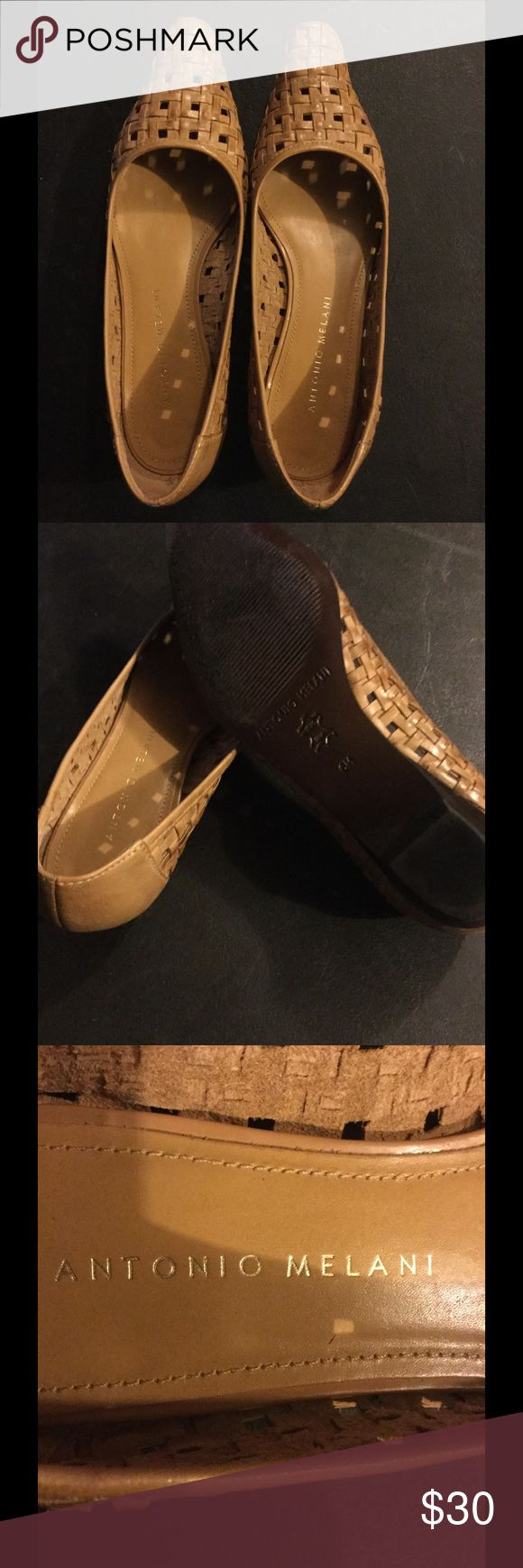 Antonio Melani pointed toe weaved flats Antonio Melani shoes. Brand new without box, but in perfect condition. These are a stylish shoe with a pointed tip and a weaved outside. ANTONIO MELANI Shoes Flats & Loafers