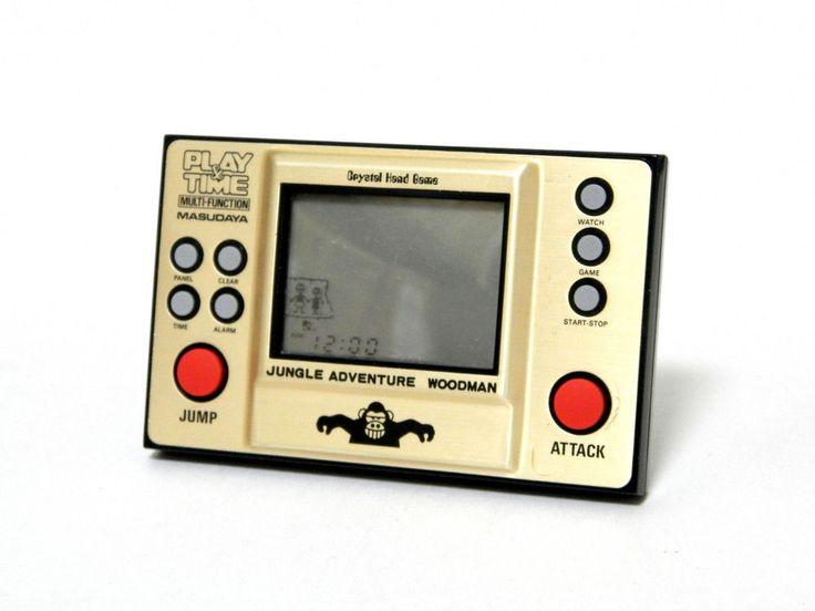 Masudaya LCD Game Play & Time Jungle Adventure Woodman Great Condition_91 #Masudaya