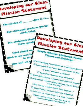 Everything for Leader in Me - 7 Habits for Students AND Creating a Classroom Mission Statement!!