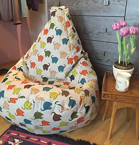 This Kids Bean Bag Is A Kind Of Handmade From Natural Fabrics Actually The