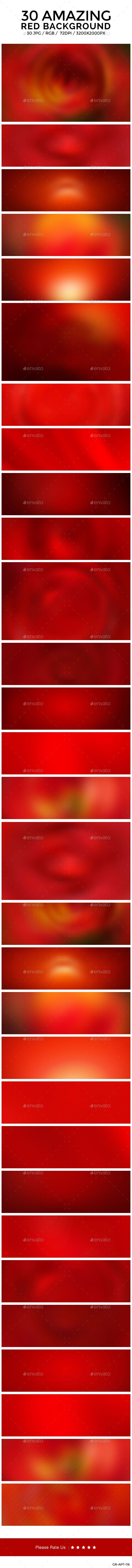 30 Red Blurred Backgrounds