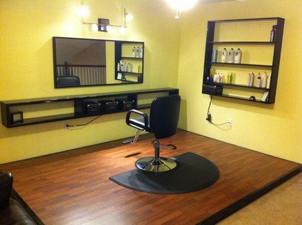 Home Salon + Floating Shelf Trick   By Davey @ LumberJocks.com ~  Woodworking Community Part 77