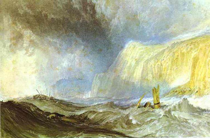 'Schiffswrack vor Hastings', wasserfarbe von William Turner (1789-1862, United Kingdom)