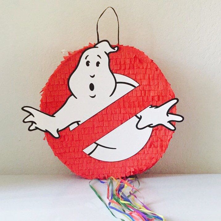 GHOST BUSTERS PINATA, Ghost boosters Party,  Pull String Piñata, caza fantasmas cumpleaños , fiesta de TRUSTITI en Etsy https://www.etsy.com/es/listing/507029392/ghost-busters-pinata-ghost-boosters