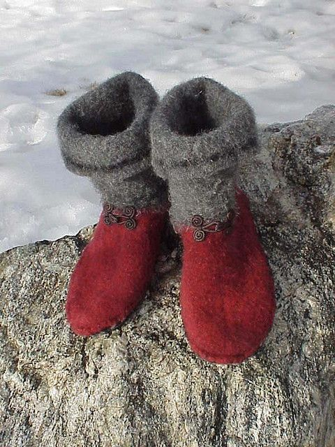 Slipper Boots - made from recycled sweater by kriskrafter, via Flickr