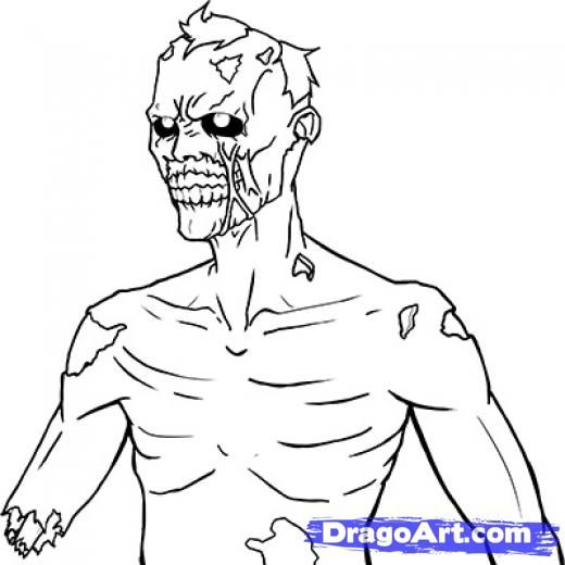 scary halloween drawings zombies | Step 13. How to Draw an Undead, Undead Zombie