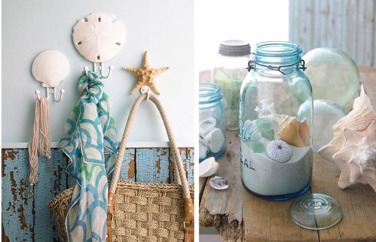 sand, mason jars, shells = seascape