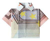 Hemd aus 20 Euro Geldschein gefaltet