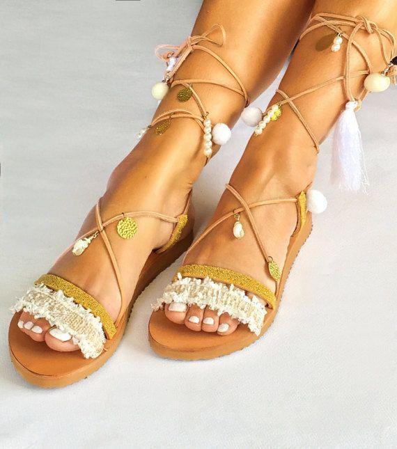 Sandals ''Anais' Luxury Sandals Wedding by BohemianFootprints