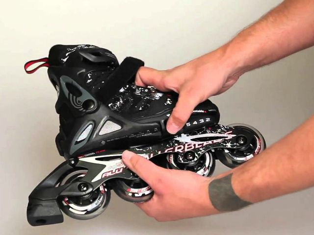 The Spitfire Alu adjustable inline skates for kids are adjustable up to 4 different sizes at a touch of a button. This means that the skates will last for at least a couple of years if you happen to start off at the lower end of the scale. Rollerblade has also incorporated features that are usually found in higher range adult skates like an aluminum frame and bigger wheels with high quality SG5 bearings.