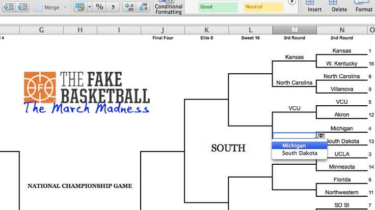 2017 NCAA Tournament Cheat Sheet -- The Fake Basketball