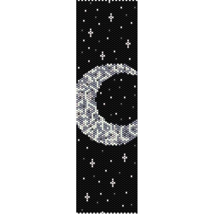 Moon & Stars Peyote Bead Pattern, Bracelet Cuff, Bookmark, Seed Beading Pattern Miyuki Delica Size 11 Beads - PDF Instant Download by SmartArtsSupply on Etsy                                                                                                                                                                                 More